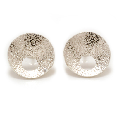 Concave texture earrings with hole