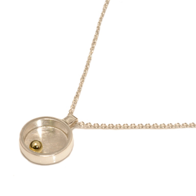 closed circle gold ball mini pendant