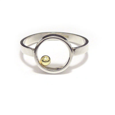 Gold ball flat ring