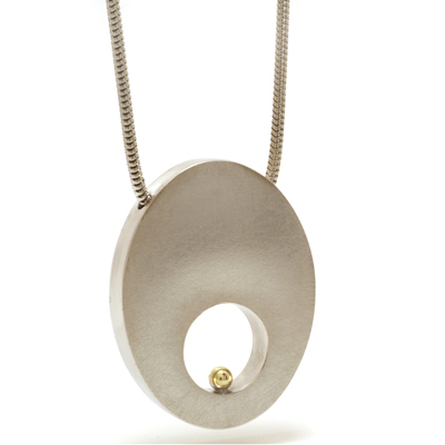 Gold ball hole pendant