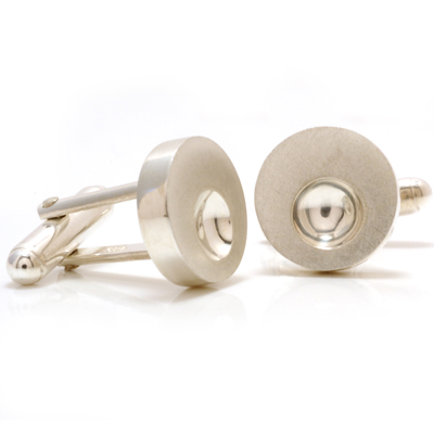 Hollow with shiny dent cufflinks