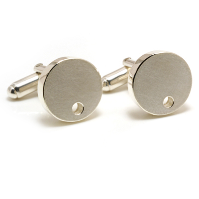 Hollow with hole cufflinks