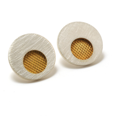 machi-dewaard-single-concentric-earrings-mesh
