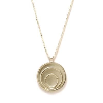 triple circle silver pendant