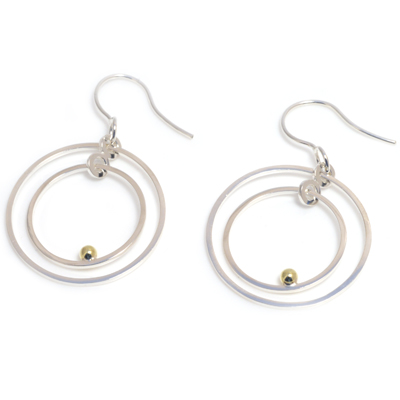 machi de waard deco dangle hoop earrings