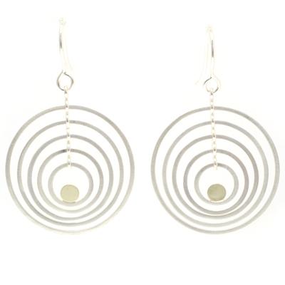 machi dewaard dancing earrings gold disc