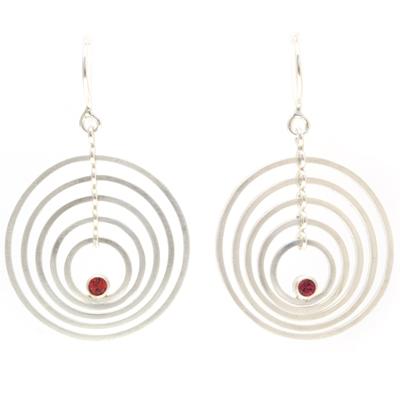 machi dewaard dancing earrings red sapphire