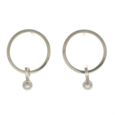 machi de waard silver simple dangle earrings