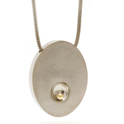 Gold ball dent pendant