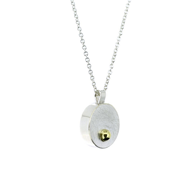 Gold ball hollow mini pendant