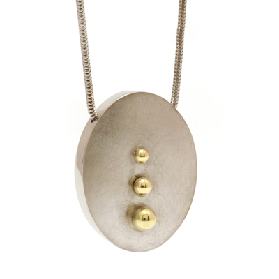Triple gold ball pendant