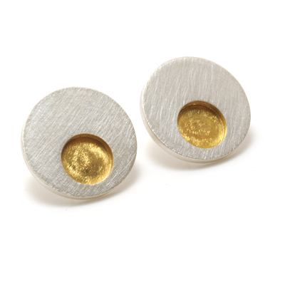 machi-dewaard-single-concentric-earrings gold plated