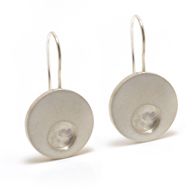 single concentric dangle earrings