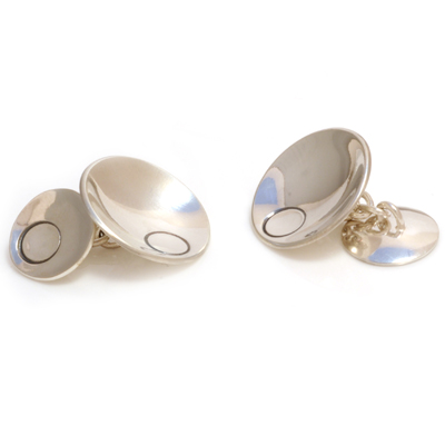 machi dewaard concave with circle chain cufflinks